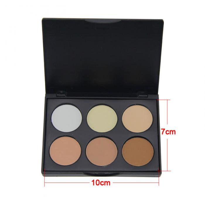 Body 100% True New Hot 4-color High-light Repair Capacity Powder Professional Makeup Powder Face Powder Panel Contour Color Cosmetics Gift
