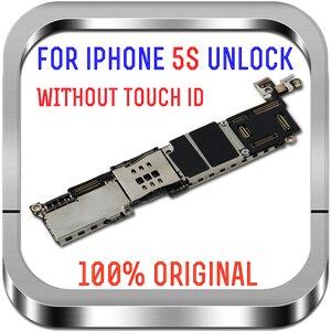 Image 3 - 16GB 32GB 64GB carte mère avec/sans identification tactile pour iphone 5S débloqué carte mère système carte mère avec puces
