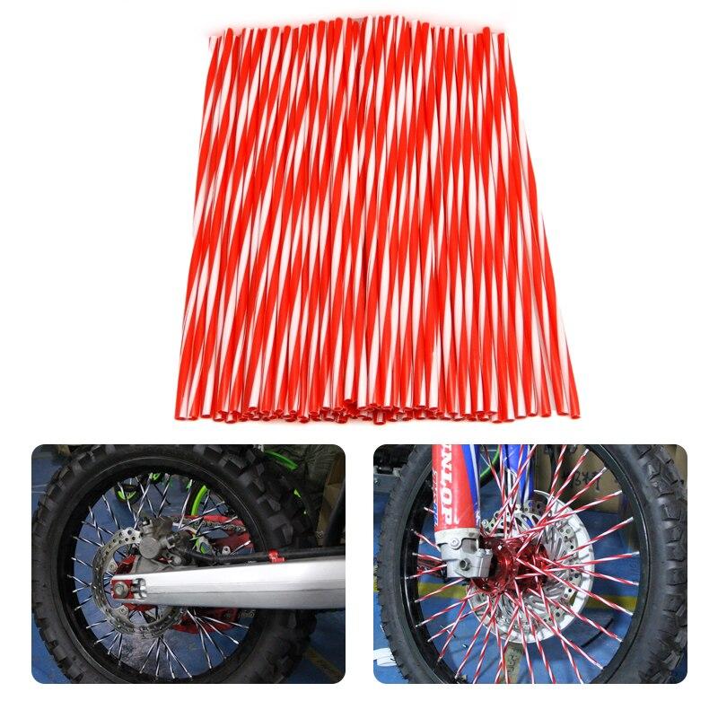 72pcs Wheel Rim Spoke Skins Design Color For KTM 150 EXC450 250 For kawasaki kx CR YZ RM KX 80 125 250 450 500 CRF YZF RMZ KXF motocross spoke skins wheel rim spoke covers for ktm exc f dr drz rm rmx rmz 85 125 250 400 450 kawasaki yamaha bmw honda ducati
