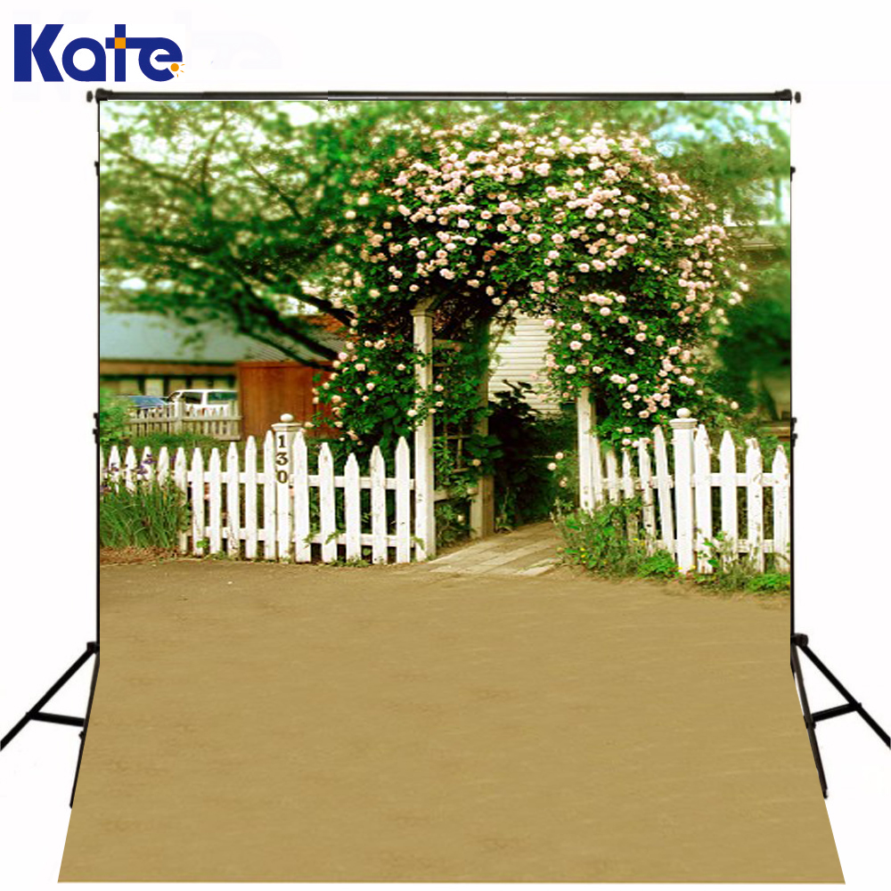 300Cm*200Cm(About 10Ft*6.5Ft) Fundo Fence Enclosing Flowers3D Baby Photography Backdrop Background Lk 1883 600cm 300cm fundo clock roof balloon3d baby photography backdrop background lk 1982