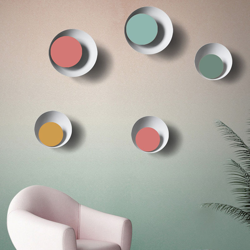 Creative Simple Macarons Color Lunar Eclipse Style Wall Lamp Colours Wall light Circular Wall lamp For Foyer,Bedroom,Dining RoomCreative Simple Macarons Color Lunar Eclipse Style Wall Lamp Colours Wall light Circular Wall lamp For Foyer,Bedroom,Dining Room