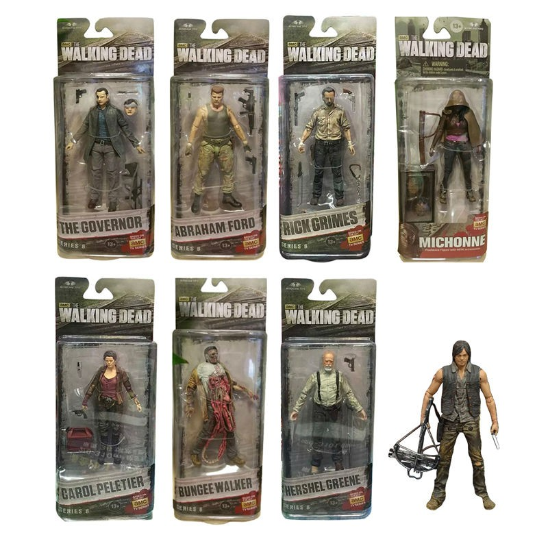 AMC Movie TV Series The Walking Dead Garage Kid <font><b>Rick</b></font> Grimes Andrew Lincoln model Toy 15cm/6inch <font><b>Action</b></font> <font><b>Figure</b></font> Collection