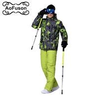 Brand Men Snowboarding Sets 2016 New Winter Sport Outdoor Man Ski Suits Snowboard Snow Wear Waterproof