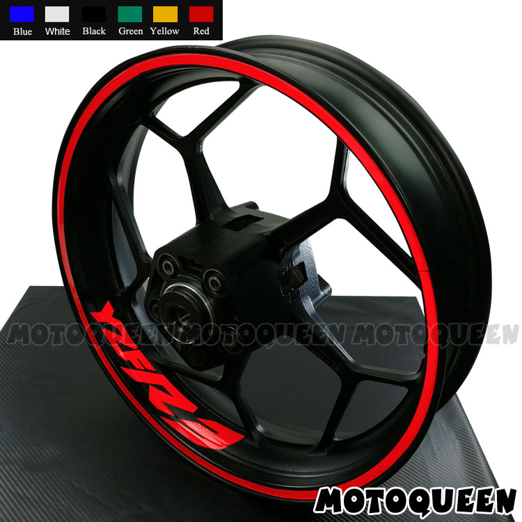 Vinyl sticker//decal Yamaha R1 Racing Wheel rim Graphics white x10