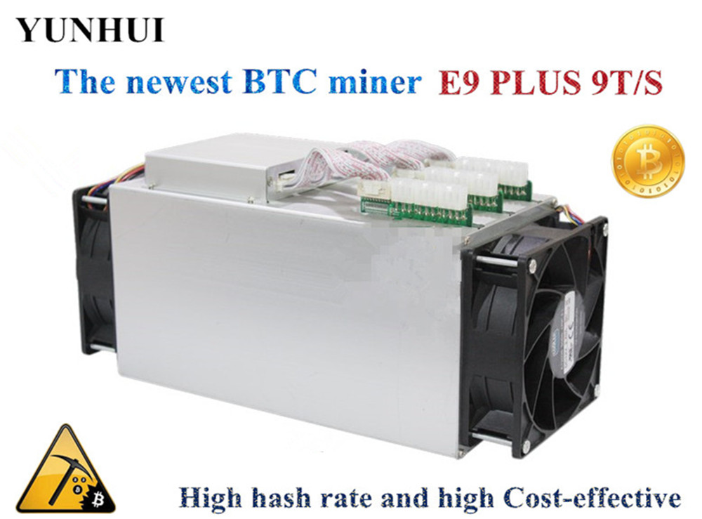 Newest 14nm Asic Miner BTC BCH Bitecion Miner Used Ebit E9 Plus 9T Economic Than Antminer S9 цена 2017