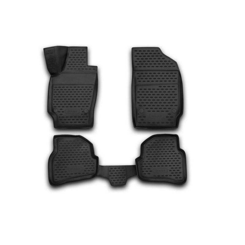 Car Mats 3D salon For VW Polo 2010->, сед... 4 PCs (polyurethane) чехол на автомобильное кресло senator dakkar vw polo 2009 н в сед разд зад ряд цвет черный