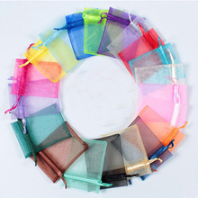 New 100pcs/lot Wholesale Packaging Bags100x125mm Mixed Color Colour Organza Pouch Jewelry Gift Bag for Wedding Festival