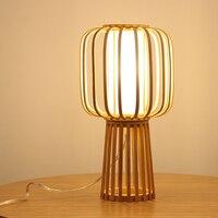 Nordic современный деревенском стиле спальня прикроватный Настольная лампа Мода Исследование Гостиная Малый лампы AP8211452