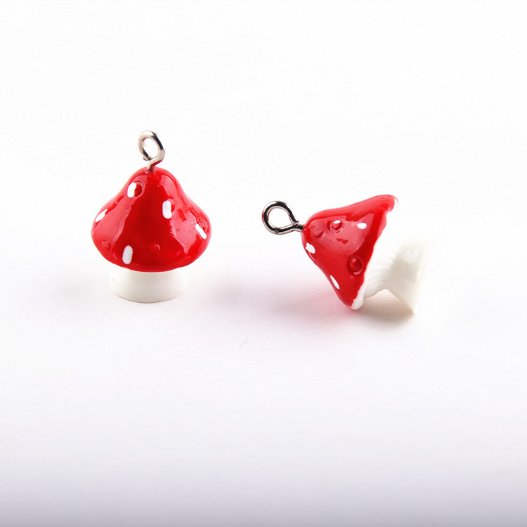 10pcs 3D Mushroom Resin Charms DIY Craft fit for Bracelet  Jewelry Finding handmade 15*22mm 4