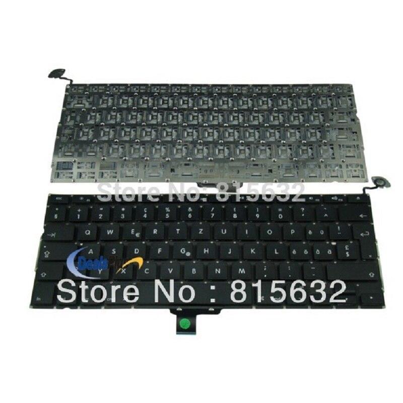 """95% Jaunā Keyboard CH Šveice 2009 2010 Gads MACBook Pro 13.3 """"A1278"""