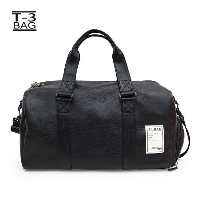 f703e4334eb3 US $21.0 40% OFF New Female Sport Shoe Bag for Women Fitness Over the  Shoulder Yoga Bag Travel Handbags Pu Leather Gym Male Bag -in Gym Bags from  ...
