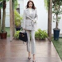 Women's suit women's temperament lace suit two piece suit (coat + pants) spring and autumn new fashion temperament slim dress