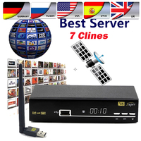 1 Year Europe Cccam Server HD Freesat V8 Super DVB S2 Satellite Receiver Full 1080P Biss