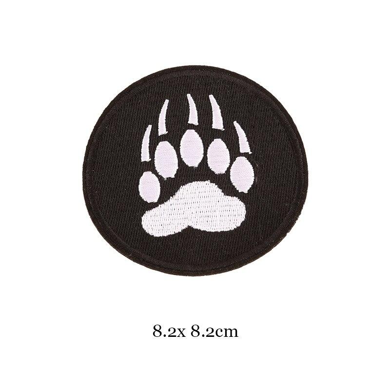 1 шт., черные, белые байкерские нашивки для одежды, железная одежда, аппликация с буквами, Череп, звезда, полосы, вышитая наклейка, круглый значок - Цвет: 35