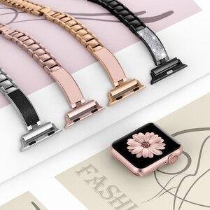 Image 3 - Voor Apple Horloge Band 40Mm 44Mm Serie 5 Slim Vervanging Armband Sieraden Vrouwen Voor Iwatch Serie 4 3 2 1 38Mm 42Mm