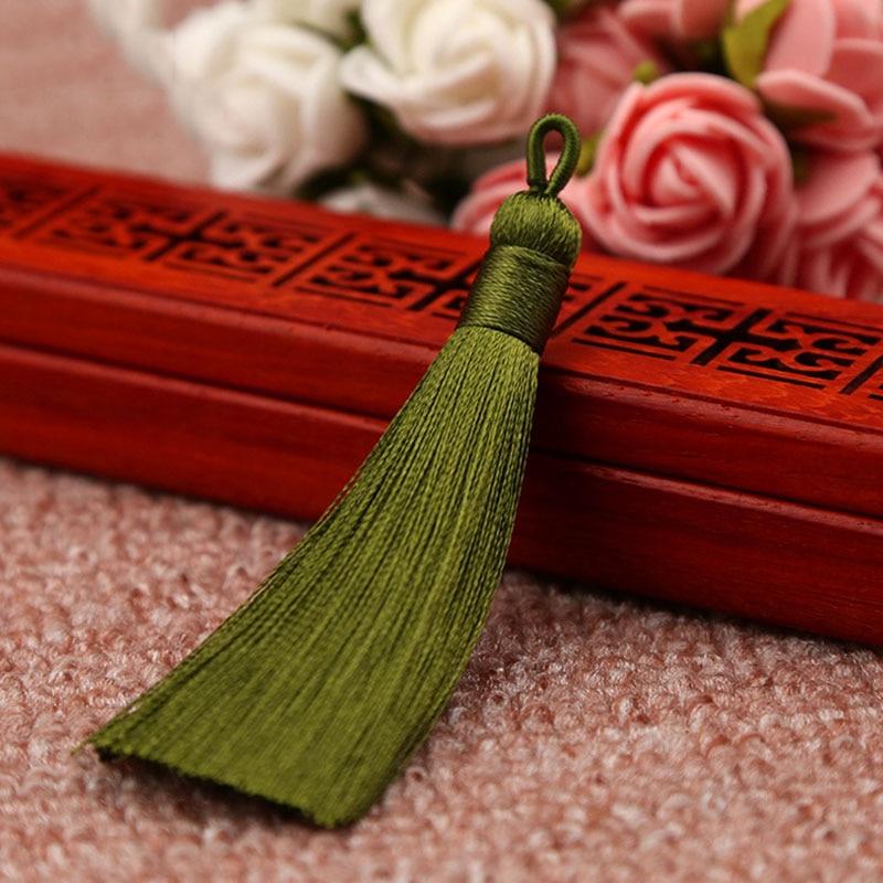 25 цветов, Новое поступление, высокое качество, горячая Распродажа, 1 шт., ручная работа, уникальные красивые шелковые кисточки, свадебные ювелирные аксессуары - Цвет: Армейский зеленый