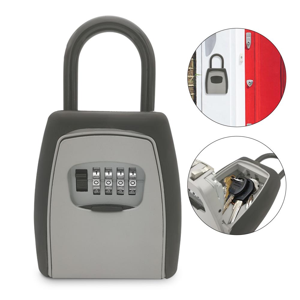 Keys Storage Box Key Storage Lock Box Safe Box Padlock Use Password Lock Alloy Material Keys Hook Security Organizer Boxes-in Safes from Security & Protection