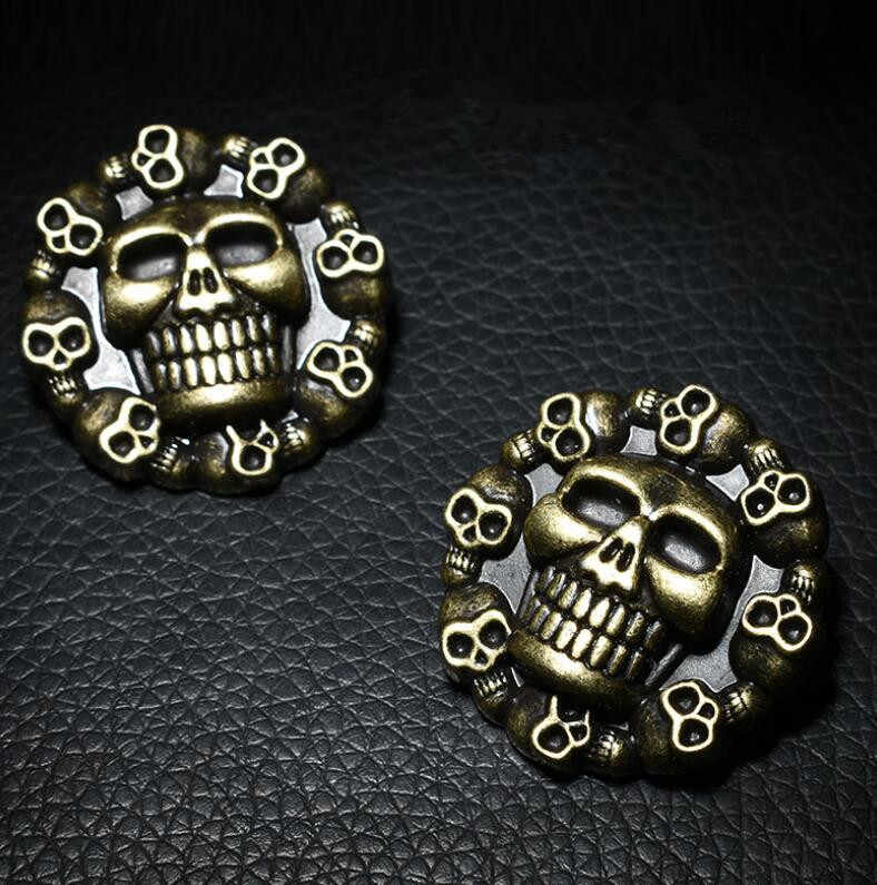 New Arrival Skull Head Metal Shoelace Buckle Punk Style Vintage Shoes Accesorries