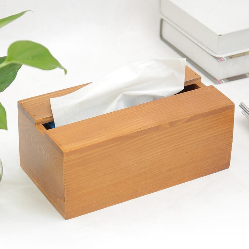 Waterproof Wood Storage Box: Wood Tissue Box Napkin Storage Box Waterproof Toilet Paper