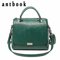 Antbook Casual Women Soft Pu Leather Handbag Design High Quality Female Shoulder Bag Messenger Bag Larger