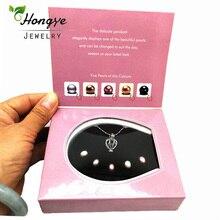 где купить Hongye Wish Pearl Love Heart Cage 1 Box Chokers Necklace for Women With Pendants Freshwaer Pearl Necklace Oyster Gift Box по лучшей цене