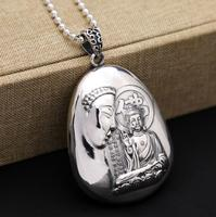 S990 silver fashion retro jewelry hannya shingyo buddha pendant (FGL)