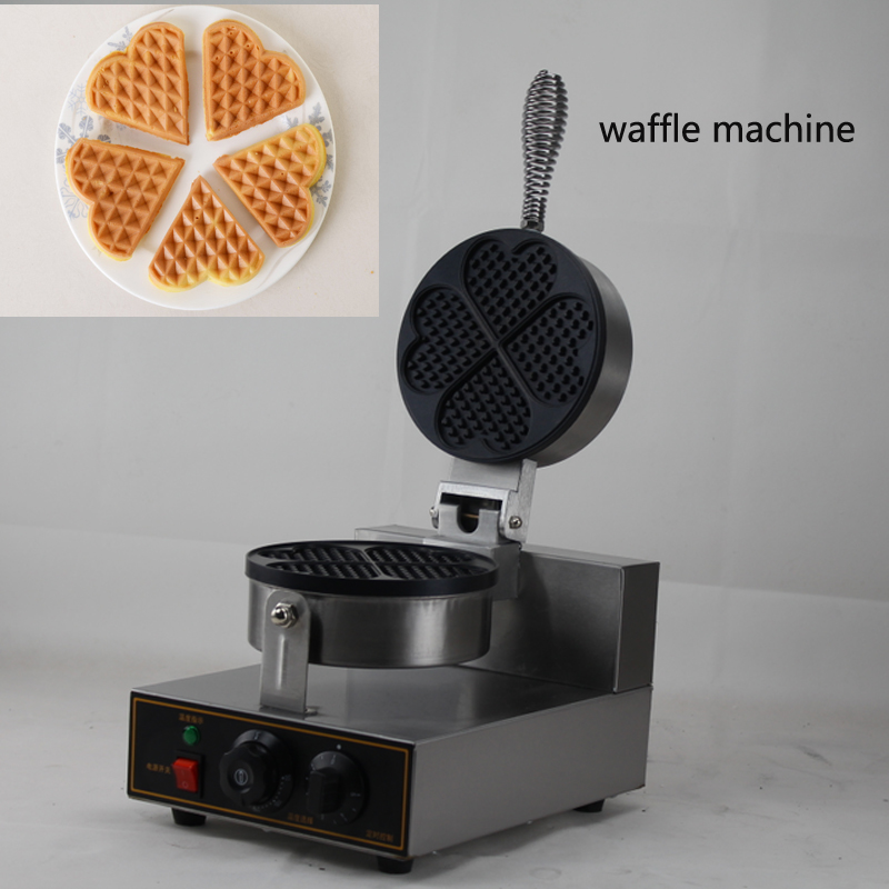 Electric 1- Plate Commercial Waffle Maker Baker Snack Machine Industrial custom plate waffle maker цена и фото