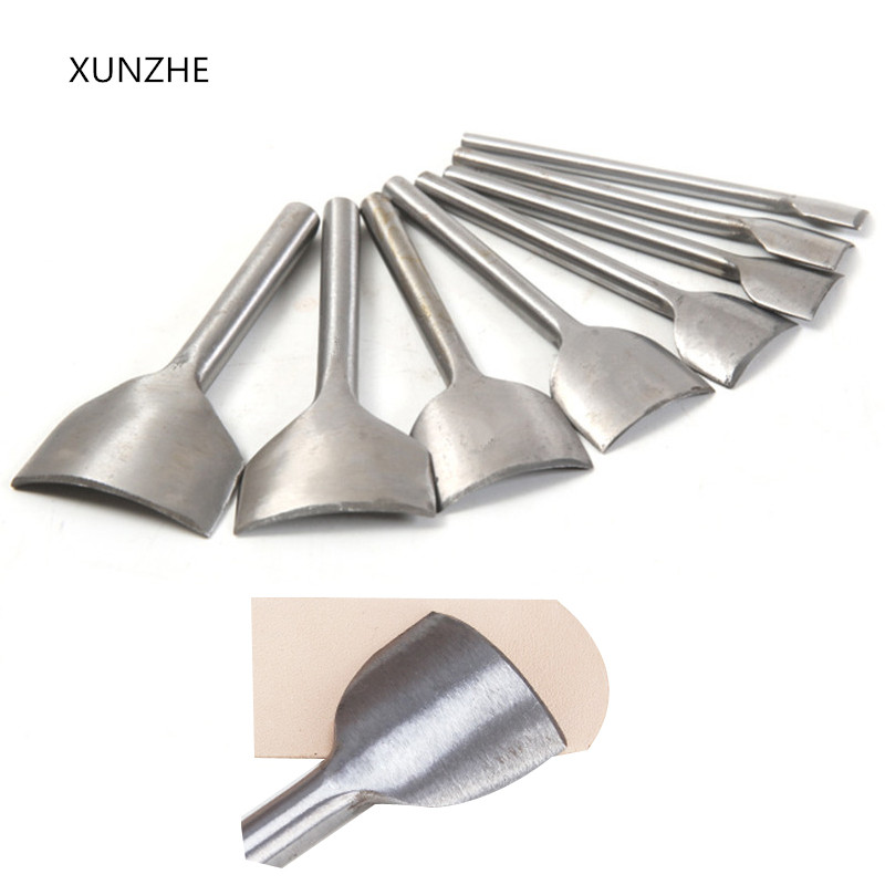 XUNZHE 9 Size 10-50 Mm Leather Craft Tools Belt Wallet Final Punch For Semicircular Punch Cutter Tool Leather Belt Watch Band