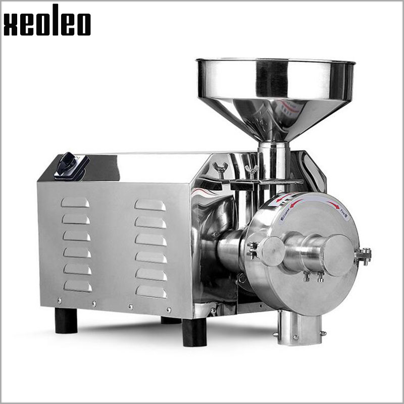 Xeoleo Commercial Grains grinder Stainless steel Whole grains Milling machine 20kg/h Food crops Grinding 1500W 220V/110V
