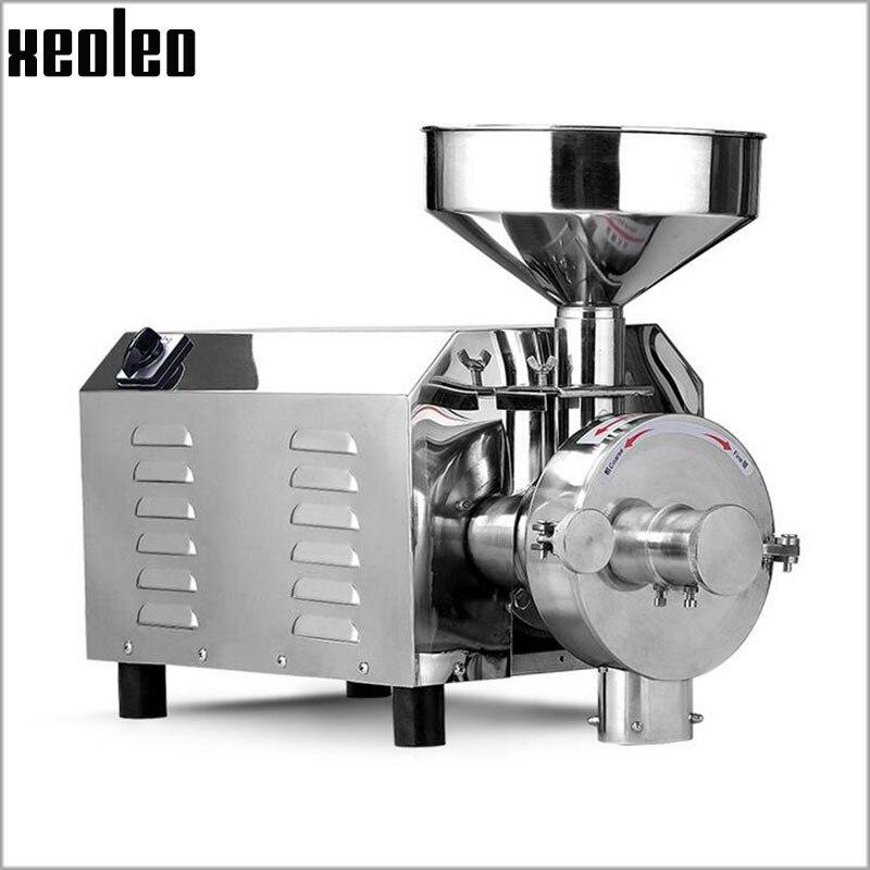 xeoleo commercial grains grinder stainless steel whole grains milling machine 20kgh food crops grinding - Grain Grinder