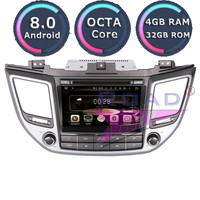 Roadlover Android 8.0 Car Multimedia DVD Player Radio For Hyundai Tucson 2015 Stereo GPS Navigation Automagnitol 2Din Video MP3