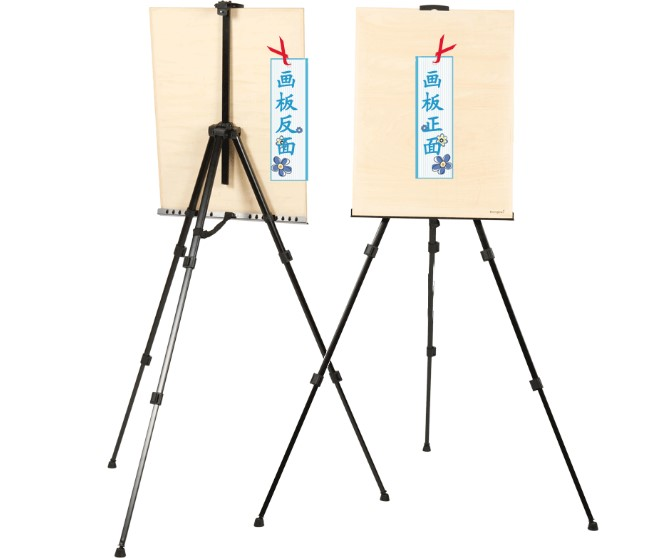 1pcs white aluminium Alloy iron Easel Folding Painting Easel Frame Artist Adjustable Tripod Display Shelf With Bag Outdoors 40cm mini artist wooden table folding painting easel frame adjustable tripod display shelf outdoors studio display frame act012