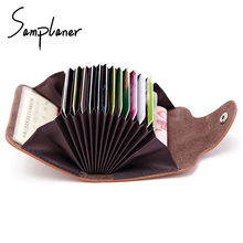 Samplaner Genuine Leather Card Holders Small Women Coin Purse Cards Wallets For Lady Cow Leather Female