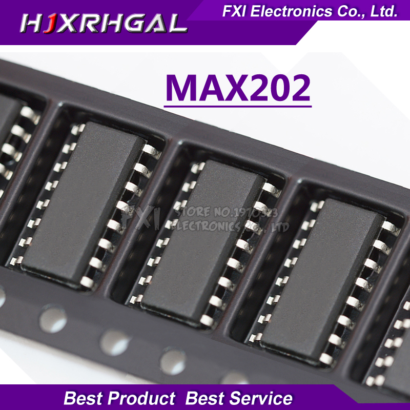 10pcs Max202cse Max202 Cse Sop-16 Rs-232 Interface Ic 5v Rs-232 Tcvr W/0.1uf External Cap New Original Electronic Components & Supplies