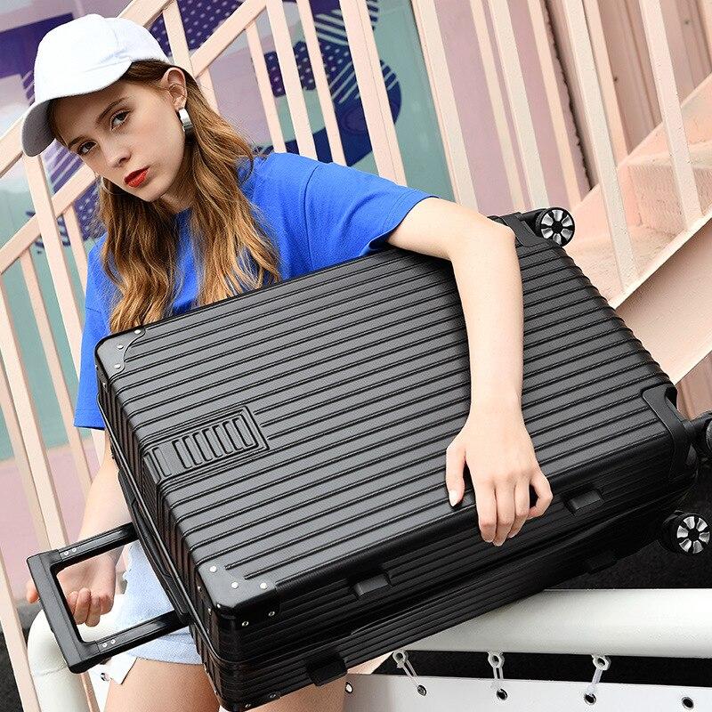 Étui rigide valise roue universelle bagage à main abs pc cadre en aluminium timon boîte 20 pouces embarquement Hardside voyage bagages