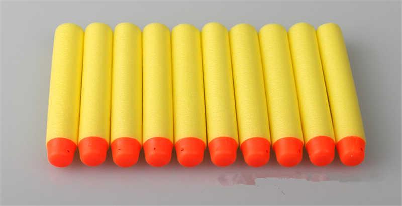 10 Pcs/Paket Pistol Mainan Bercahaya Peluru NERF Series Blasters Isi Ulang Klip Anak Panah EVA Orbeez Lembut Peluru 7.2x1.3CM