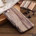 6 s casos para iphone 7 case grão de madeira do vintage para o iphone 6 s além de protetor de tampa traseira para o iphone 7 plus + clássica 5S cap sacos