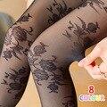 Gancho de flores de Estilo Japonés Vintage Patrón Apretado Lolita Pantimedias Mujeres Medias de Encaje Pantimedias Sexy Lady Medias Al Por Mayor