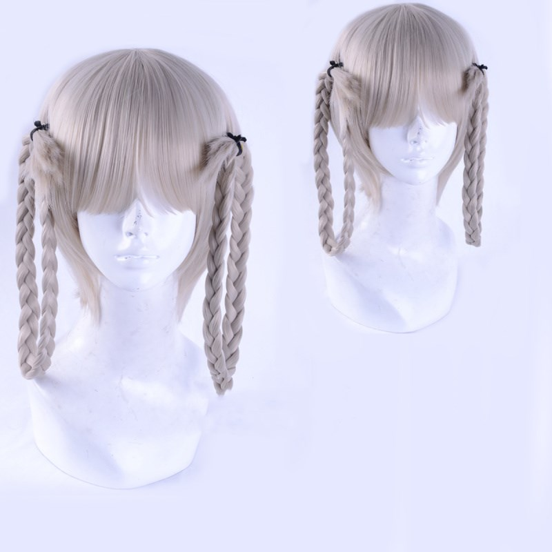 New Anime Kakegurui Kirari Momobami Braids Cosplay Wig Student Council President