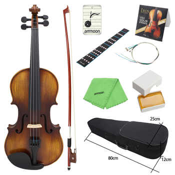 ammoon AV-508 4/4 Full Size Acoustic Violin Fiddle Kit Solid Wood Matte Finish Spruce Face Board 4-String Instrument - DISCOUNT ITEM  40 OFF Sports & Entertainment