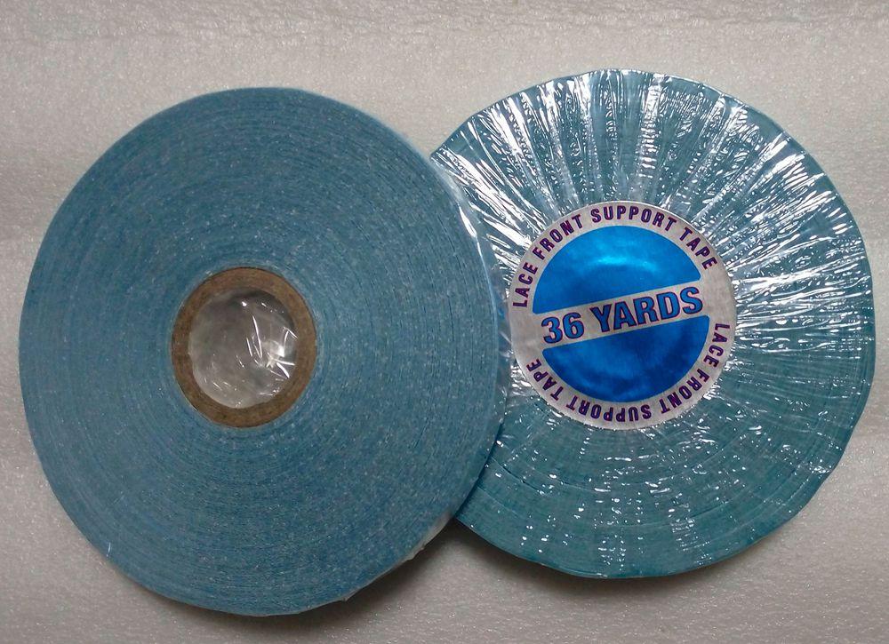 1 рулон/lot 0.8 см шириной 36 м синяя сильный клей Клейкие ленты для шнурка и парик двусторонняя клейкие ленты ...