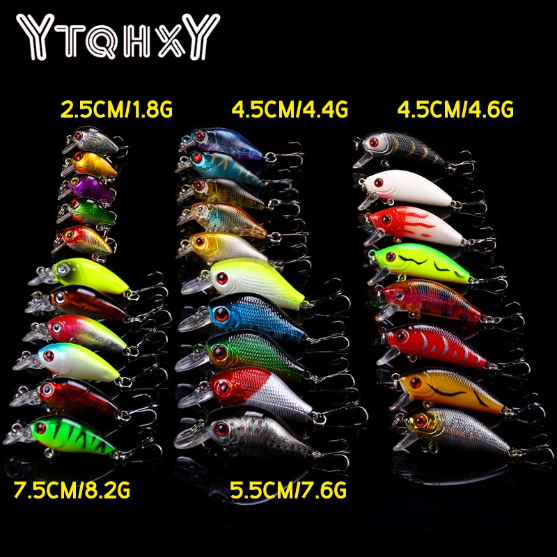 YTQHXY 29Pcs/lot Fishing Lures Set 5 Models Wobbler Fishing Bait Minnow Lure and Crank bait Quality Fishing Tackle YE-114 fishing lures 2017 43x set mixed models 43 clolor mix minnow lure crank bait tackle s baits pesca fishing accessories