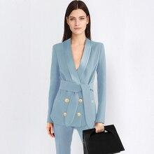 2 piece blue Pant Suits Formal Ladies Office OL Uniform Designs Women elegant Business Work Wear Jacket with Trousers Sets
