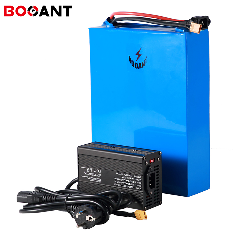 Top 60v 15Ah scooter lithium ion battery pack for Panasonic 18650 cell 16S 5P 60v 1000w 1500w electric bicycle battery +5A Charger 0