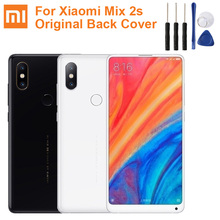 Original XiaoMi Glass Battery Rear Case For Xiaomi Mix 2S MIX2S Phone Backshell Back Cover Cases