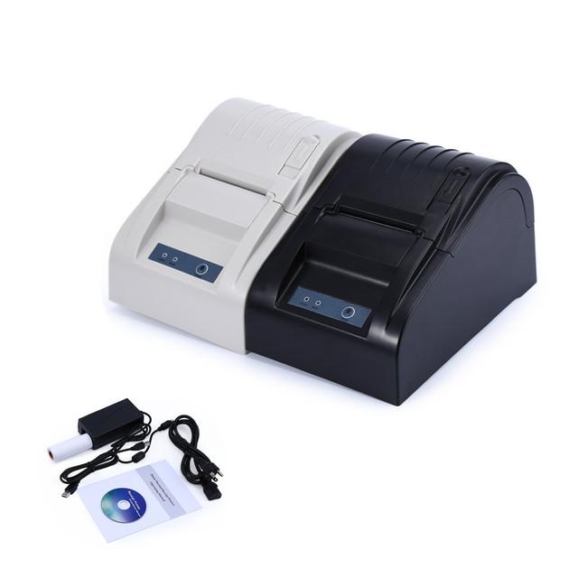ZJ-5890 T 58mm Interfaz de Puerto USB de Bajo Ruido de Alta velocidad Impresora Térmica de Recibos Impresora Térmica Para todos los Sistemas de PUNTO de venta Comercial