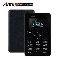 New Ultra Thin AIEK M5 Card Phone 4 5mm Mini Pocket Mobile AEKU Credit Card Slim