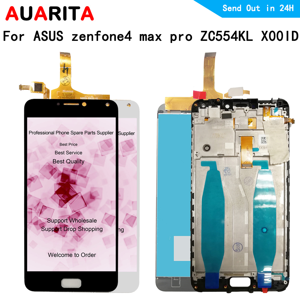 No Dead Pixel LCD Display for ASUS zenfone 4 max pro ZC554KL X00ID Touch panel front glass Screen Digitizer with frame assemblyNo Dead Pixel LCD Display for ASUS zenfone 4 max pro ZC554KL X00ID Touch panel front glass Screen Digitizer with frame assembly