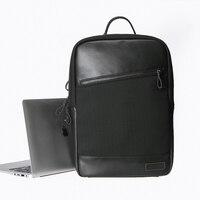 Bolsa para laptop de couro mochila saco de viagem para macbook lenovo hp acer asus xiao hi12 ar notebook mochila masculina para chuwi tablet