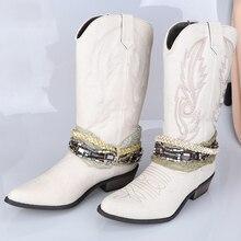 f509199b13 Vintage vaquero occidental botas para mujeres vaquera botas de mujer de  Punta 3